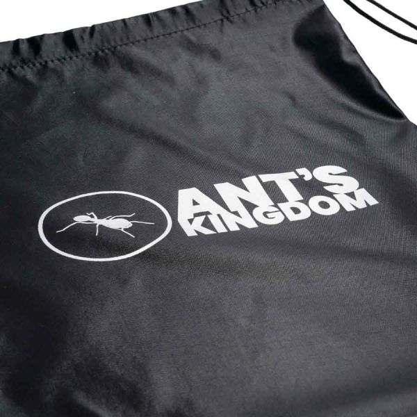 Close up logo on bag